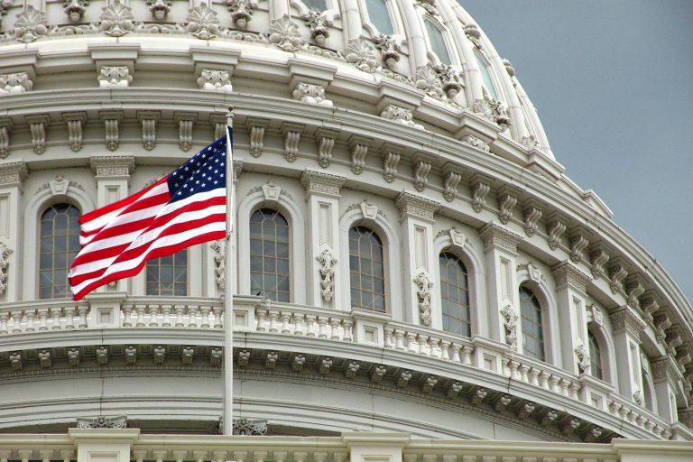 American flag flies at US Capitol