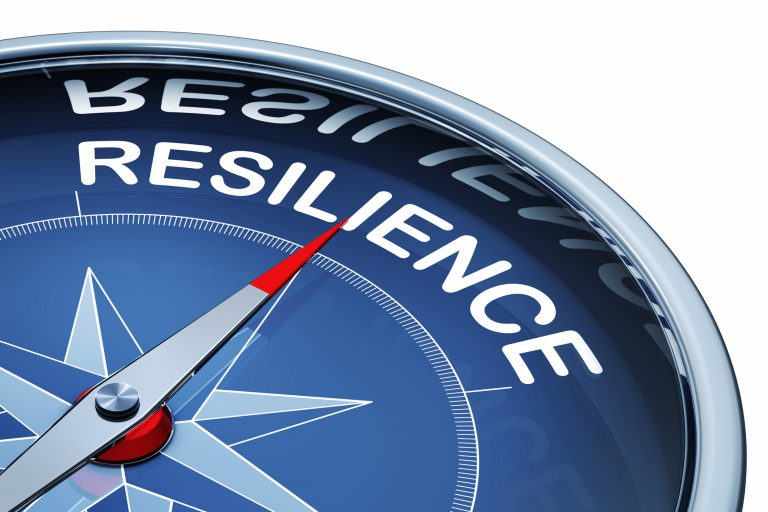 compass pointing to resilience