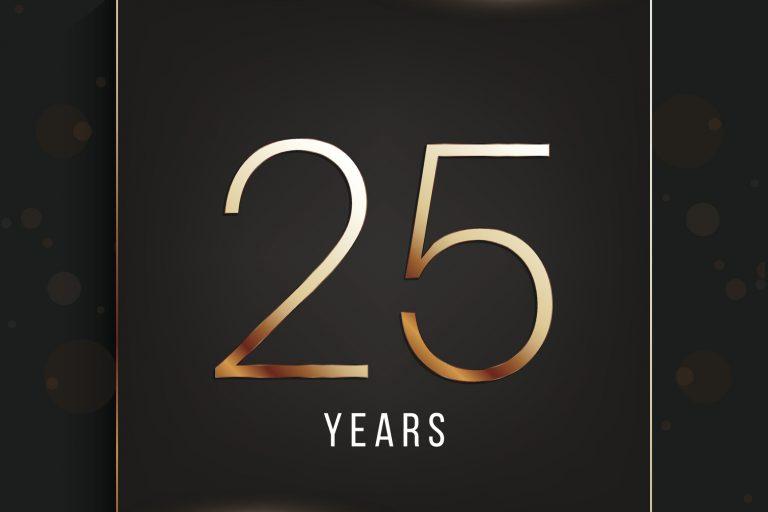 25 years anniversary banner