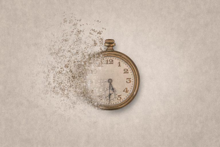 disintegrating clock